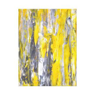 """""""Lo clavó"""" arte abstracto gris y amarillo"""