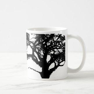 Lo contrario del árbol de la madre taza básica blanca