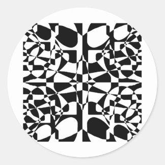 lo contrario del daltónico pegatinas redondas