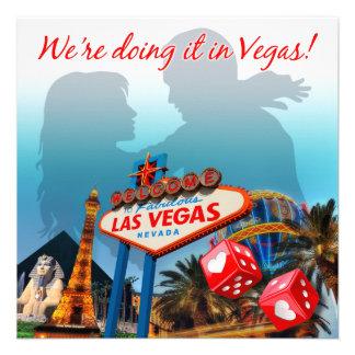 Lo estamos haciendo en el boda de Vegas Invitacion Personalizada
