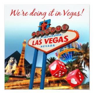 Lo estamos haciendo en el boda de Vegas Invitación 13,3 Cm X 13,3cm
