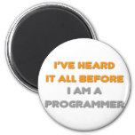 Lo he oído todo antes. Programador Imán De Frigorifico