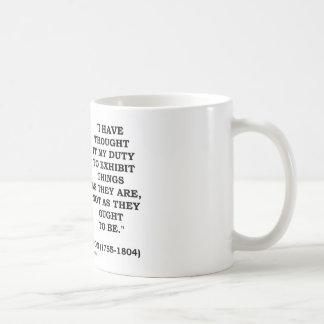 Lo he pensado mi deber para exhibir cita de las taza de café