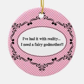 Lo he tenido con realidad, yo necesito a una hada adorno navideño redondo de cerámica