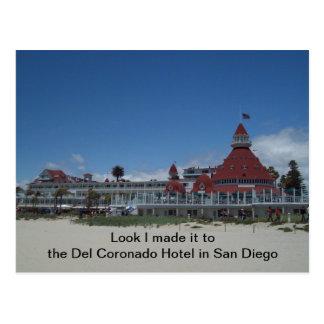 Lo hice al Del en la postal de San Diego