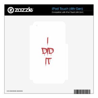 Lo hice - las letras sangrientas iPod touch 4G skins