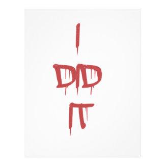 Lo hice - las letras sangrientas membrete