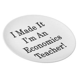 Lo hice que soy profesor de la economía plato
