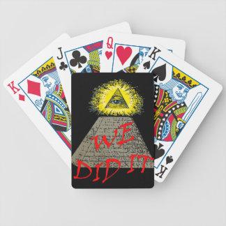 lo hicimos (el illuminati) baraja de cartas bicycle