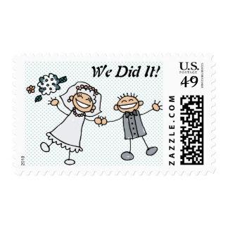 Lo hicimos - franqueo del boda sellos postales