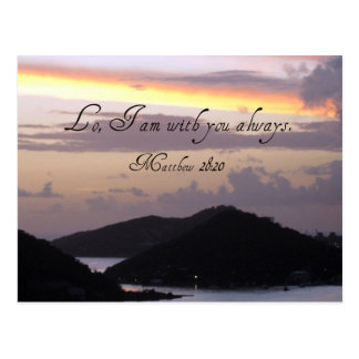 Lo I am with you always Post Card