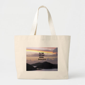 Lo, I am with you always. Tote Bag