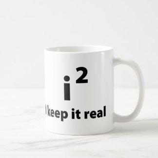 Lo mantengo real tazas de café