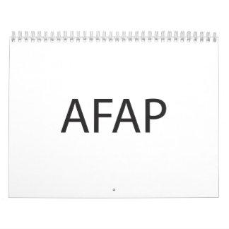 lo más lejos posible ai calendarios de pared