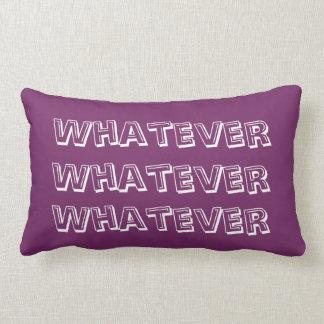 """""""Lo que"""": almohada de p"""