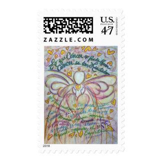 Lo que Cáncer no Puede Hacer Angel Postage Stamp