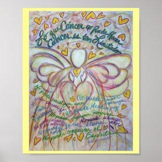 Lo que cáncer no puede hacer Angel Poster Print print