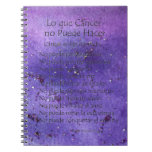 Lo que Cáncer No Puede Hacer Purple Notebook