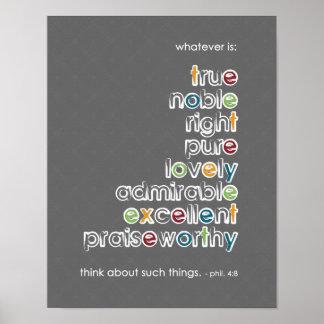 Lo que es: Noble verdadero - 4:8 de Phil Posters
