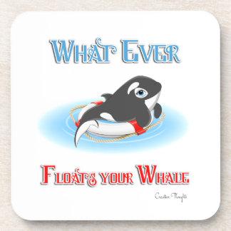 Lo que flota su ballena posavaso
