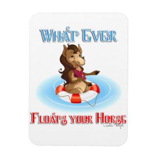 Lo que flota su caballo imanes flexibles