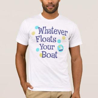 Lo que flota su camisa del barco