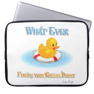 Lo que flota su caucho Ducky Manga Portátil