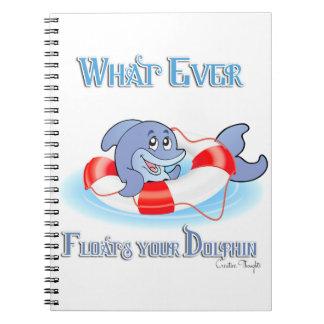 Lo que flota su delfín libreta espiral