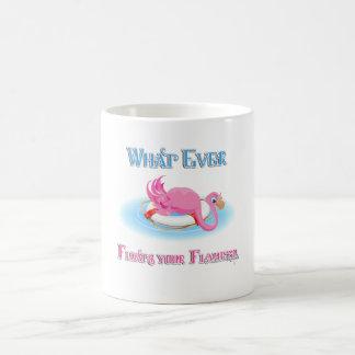 Lo que flota su flamenco 3 taza básica blanca