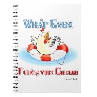 Lo que flota su pollo 2 spiral notebooks