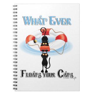 Lo que flota sus gatos 2 cuadernos