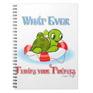 Lo que flota sus tortugas 2 libretas espirales