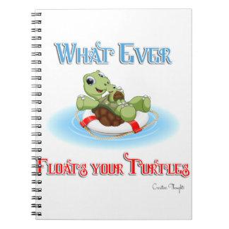 Lo que flota sus tortugas libreta