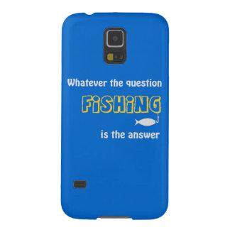 ¡Lo que la pregunta es, la PESCA es la respuesta! Fundas De Galaxy S5