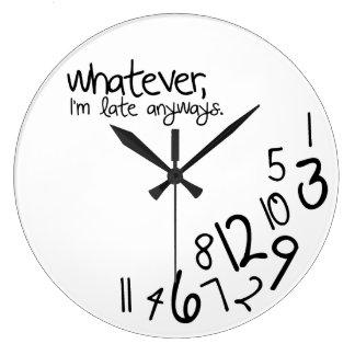 lo que reloj redondo grande