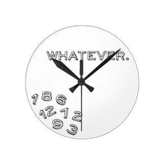 Lo que reloj redondo mediano