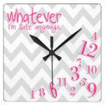 lo que - rosas fuertes en galón gris y blanco relojes de pared
