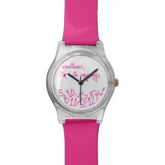 Lo que - rosas fuertes reloj de mano