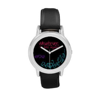 lo que, soy atrasado de todos modos - púrpura, reloj
