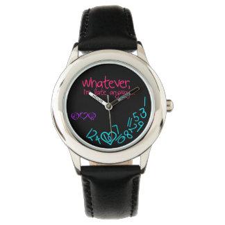 lo que, soy atrasado de todos modos - púrpura, reloj de mano