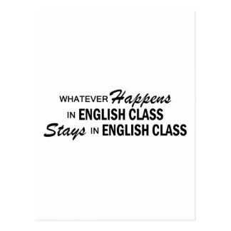 Lo que sucede - clase de inglés tarjetas postales