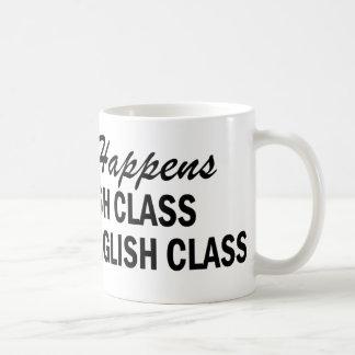 Lo que sucede - clase de inglés taza de café