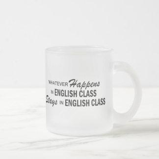 Lo que sucede - clase de inglés taza de café esmerilada