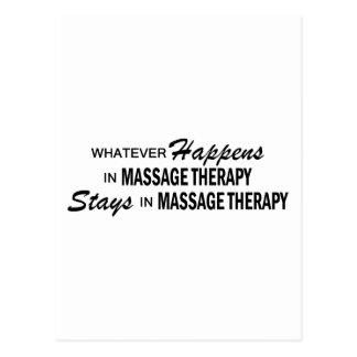 Lo que sucede - dé masajes a la terapia tarjeta postal