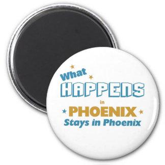 Lo que sucede en las estancias de Phoenix en Phoen Imán Redondo 5 Cm