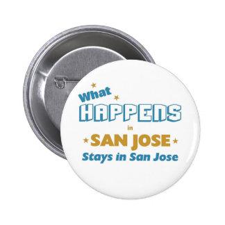 Lo que sucede en San Jose Pin Redondo De 2 Pulgadas