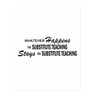 Lo que sucede - enseñanza substituta postal