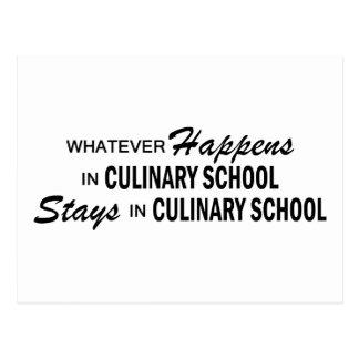 Lo que sucede - escuela culinaria postal