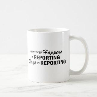 Lo que sucede - información taza de café