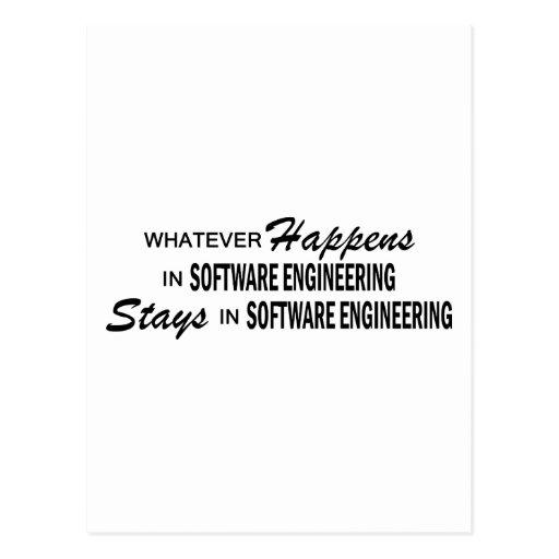 Lo que sucede - ingeniería de programas tarjetas postales